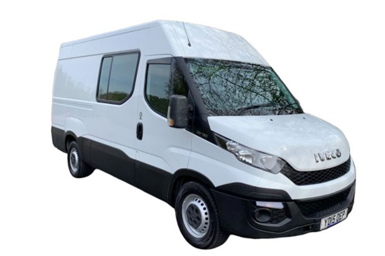 Iveco Daily 35C 3520L DRW 2.3 D HPI 16V DRW 156PS  Crew Van High Roof HiMatic [Start Stop] front view