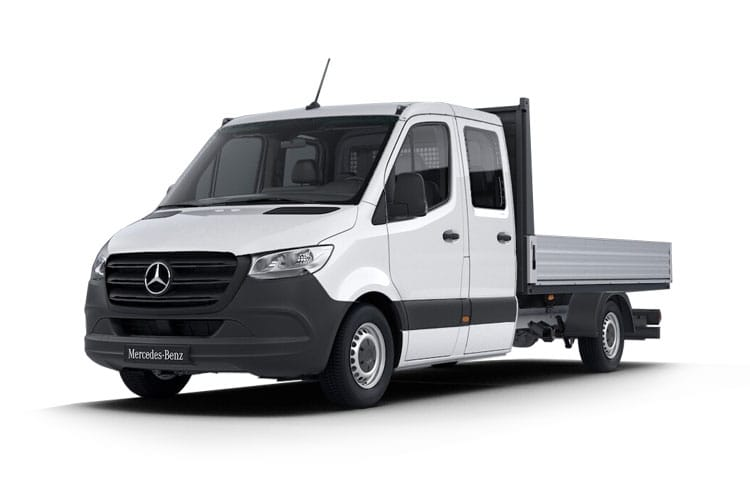 Mercedes-Benz Sprinter HGV 516 L3 5.0t AWD 2.1 CDi 4WD 163PS  Dropside Double Cab Manual front view